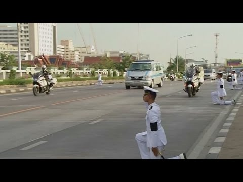 Thai king Bhumibol Adulyadej's funeral procession