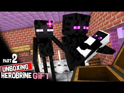 Monster School: Unboxing Herobrine's Present PART2: Minecraft Animation