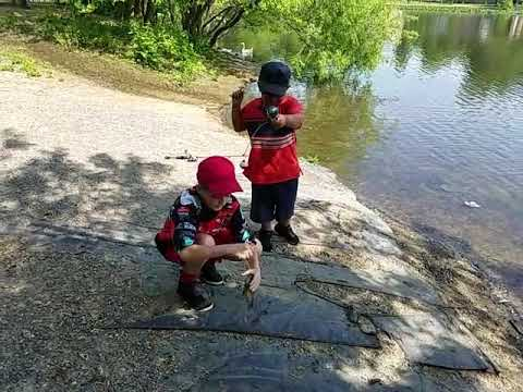 Miko's First Time Fishing. Nathan And Miko. Good Times.