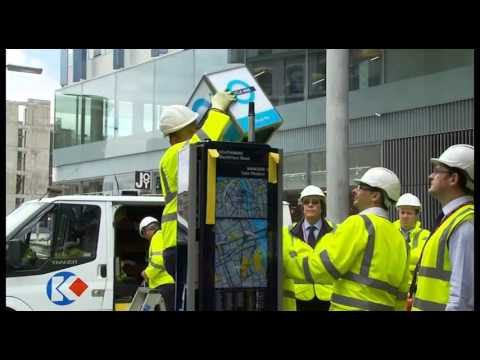 London's first Barclays Cycle Hire docking station being installed