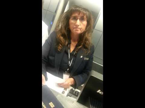 Watch US Airways rep Alesia Garcia: Causes missed flight, calls police