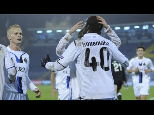 2009-2010 - Partizan Belgrado - Club Brugge - GOAL Dorge Kouemaha