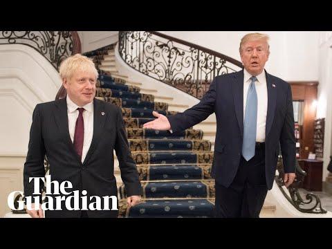 Donald Trump tells Boris Johnson at G7 he wants a 'very big' trade deal