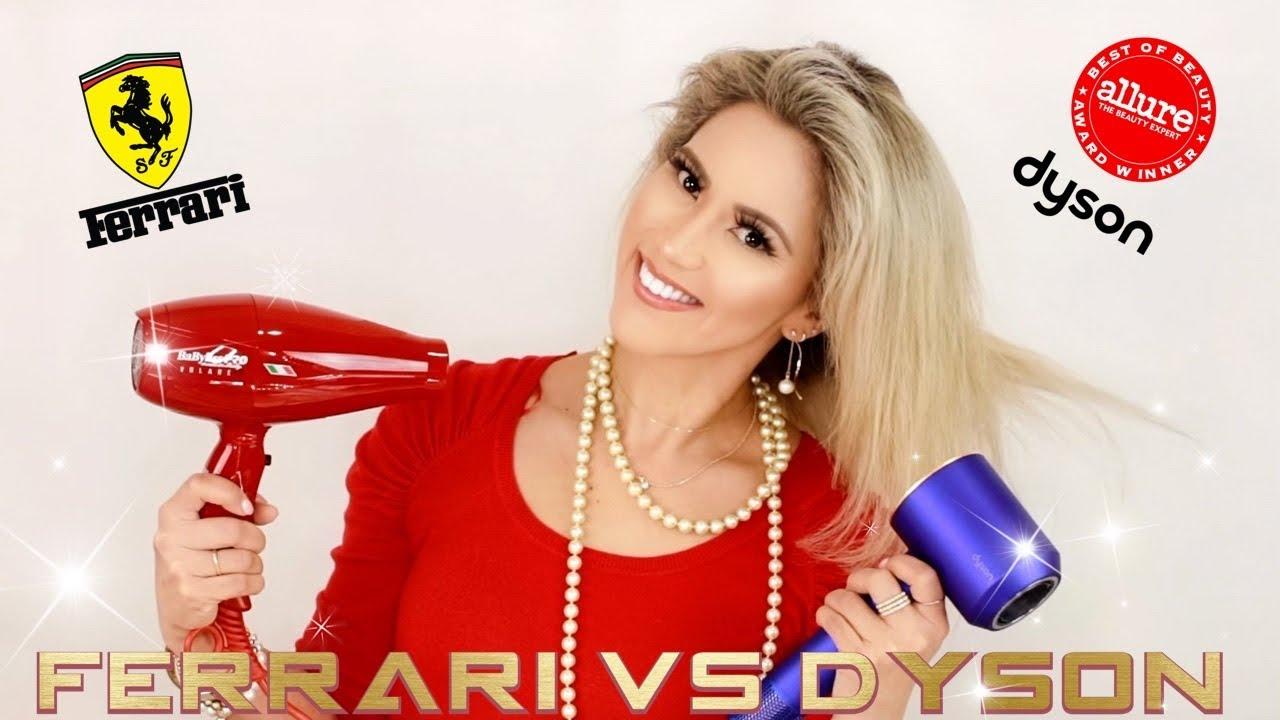 Ferrari Vs Dyson Babylisspro Volare V1 Dryer Dyson Supersonic Hair Dryer Hair Tutorial Youtube
