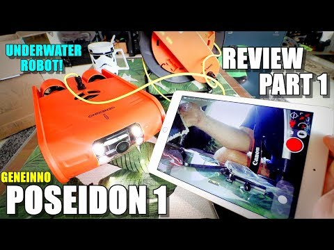 2018 Underwater Drone GENEINNO POSEIDON HD ROV Review - Part 1 - [Unboxing, Inspection & Setup]