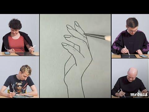 Как легко нарисовать руку