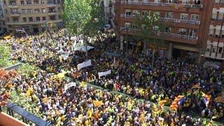 Manifestación en Barcelona pide libertad de independentistas