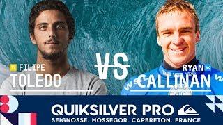 Toledo vs. Callinan - Round Three, Heat 6 - Quiksilver Pro France 2018