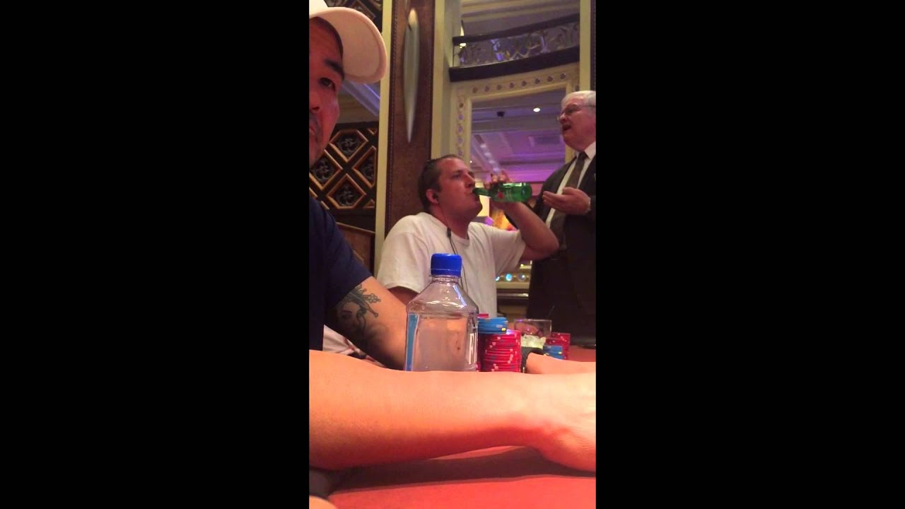 Drunk Guy Loses It In Las Vegas Poker Room - June 14th 2015 - YouTube