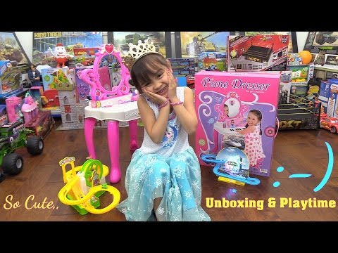 Toy Channel: Little Girl's Pink Vanity Dresser Play Set Unbo