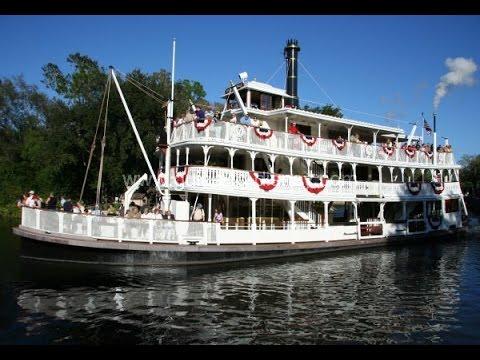 Riding The Liberty Square Riverboat At Magic Kingdom Disney World Orlando Florida