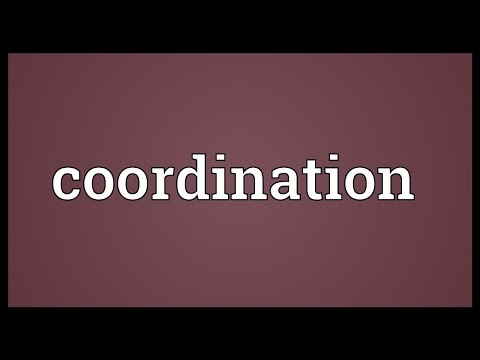 Coordination Meaning