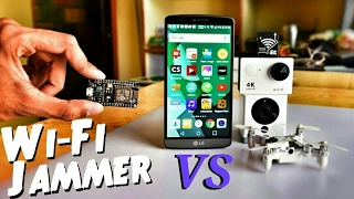 🎩  Hacking My WiFi Devices, Drones, Security Camera & Smartphones with $5 WiFi Jammer
