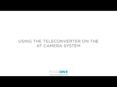Support | Using the Teleconverter with the Phase One XF Camera System | Phase One