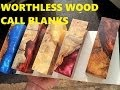 Alumilite casting Worthless wood into Call blanks for duck/deer calls