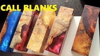 Alumilite casting Worthless wood into Call blanks for duck/deer calls thumbnail