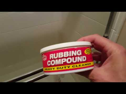 Clean Glass Shower Doors - With Rubbing Compound