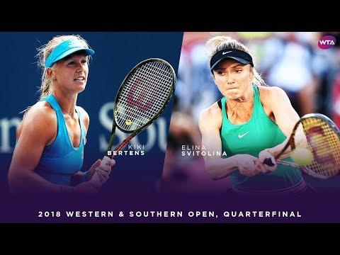 Kiki Bertens vs Elina Svitolina | Western & Southern Open Quarterfinals | WTA Highlights