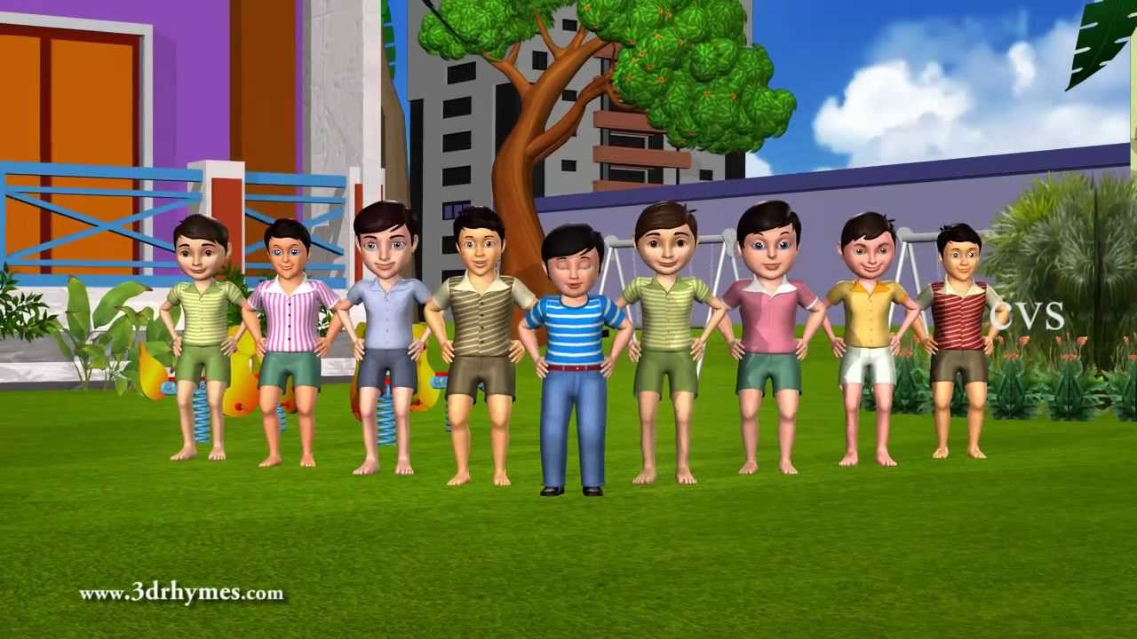 Ten Little Indians 3d Animation English Nursery Rhyme