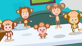 Five Little Monkeys Jumping On The Bed | Nursery Rhymes For Kids | Children Song