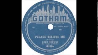 "Doris Browne  "" Please Believe Me ""           (1953)"