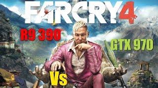 Far Cry 4 R9 390 vs GTX 970 | 1080p Ultra Settings SMAA | FRAME-RATE TEST
