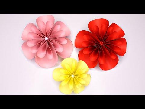 Как сделать цветы на стену своими руками из бумаги