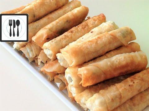 Сигара бёрек с сыром - Рецепт турецких пирожков с творогом/ Вегетарианские рецепты