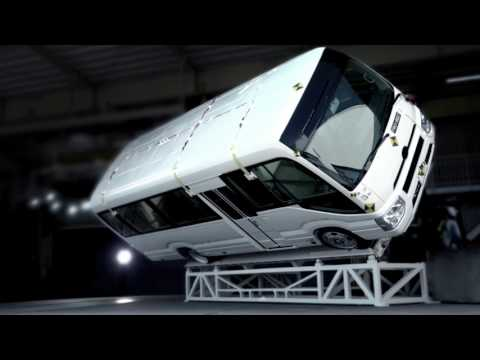 TOYOTA COASTER|Roll-over test