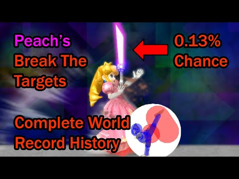 The Most UNLIKELY Record In Smash Bros: The History Of Peach's Melee Break The Targets World Record
