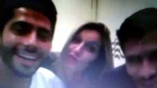 Poly e Roni matando Marcelo de vergonha na ttcam 01