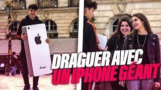 DRAGUER UNE FILLE AVEC UN IPHONE GEANT !