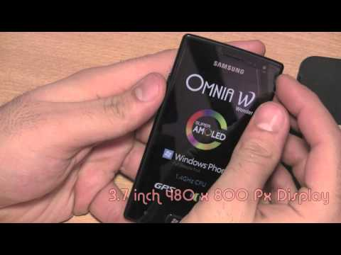 Samsung Omnia W i8350 Unboxing and Hands On - iGyaan