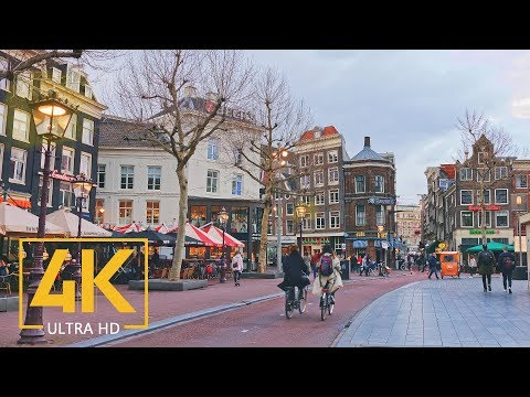 4K Amsterdam, Netherlands - Urban Relax Video with City Sounds