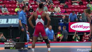 Mark Hall Beats Jason Nolf in Freestyle