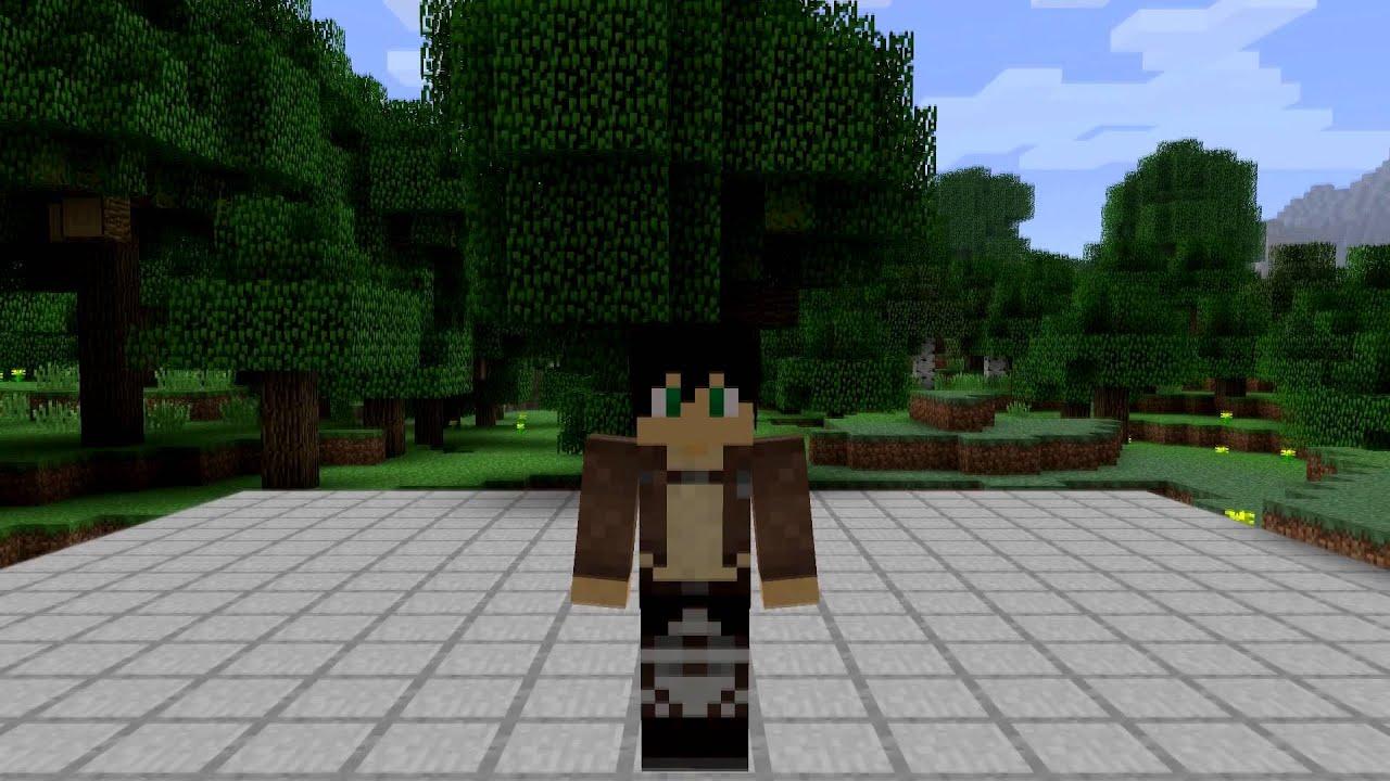 Eren Jaeger Minecraft Skin Spotlight - YouTube