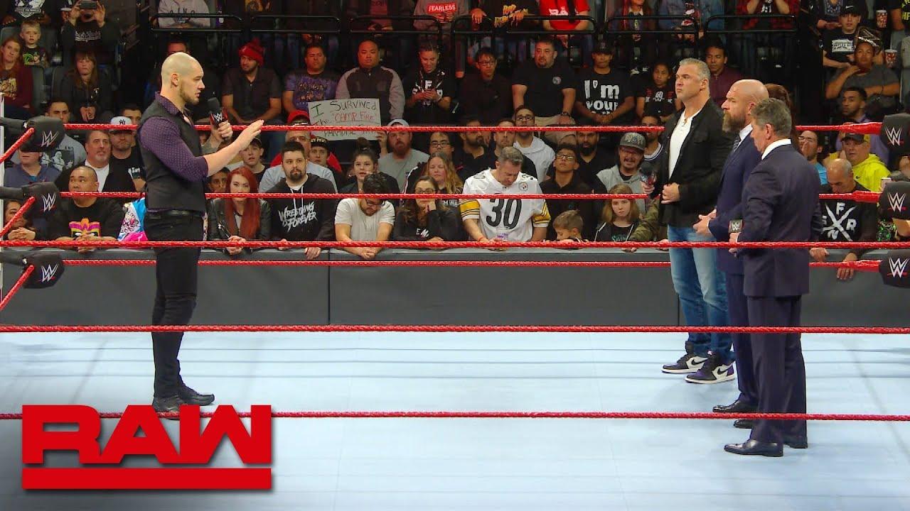 Baron Corbin explains his methodology to the McMahon family: Raw Exclusive,  Dec  17, 2018