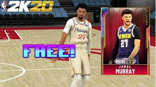 NEW *FREE* GALAXY OPAL JAMAL MURRAY GAMEPLAY IN NBA 2K20 MYTEAM!