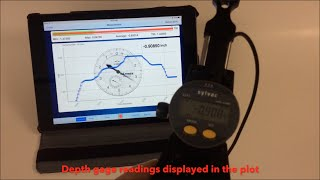 Wireless Reading of Sylvac Depth Gage with WiMER 2