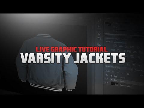 Varsity Jackets L Design Tutorial #2