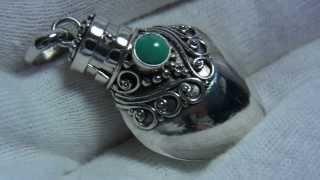 【シルバーペンダントトップ】 アロマペンダントパフュームケース) トルコ石 鏡面仕上げの輝きが美しい : plata lusso(プラタルッソ) 札幌