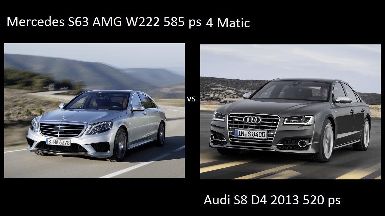 Mercedes S63 Amg W222 4 Matic 2013 Vs Audi S8 D4 2013 2014