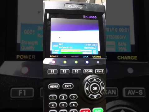 SatKing SK-3500 VAST Satellite TV Meter with Live TV Screen