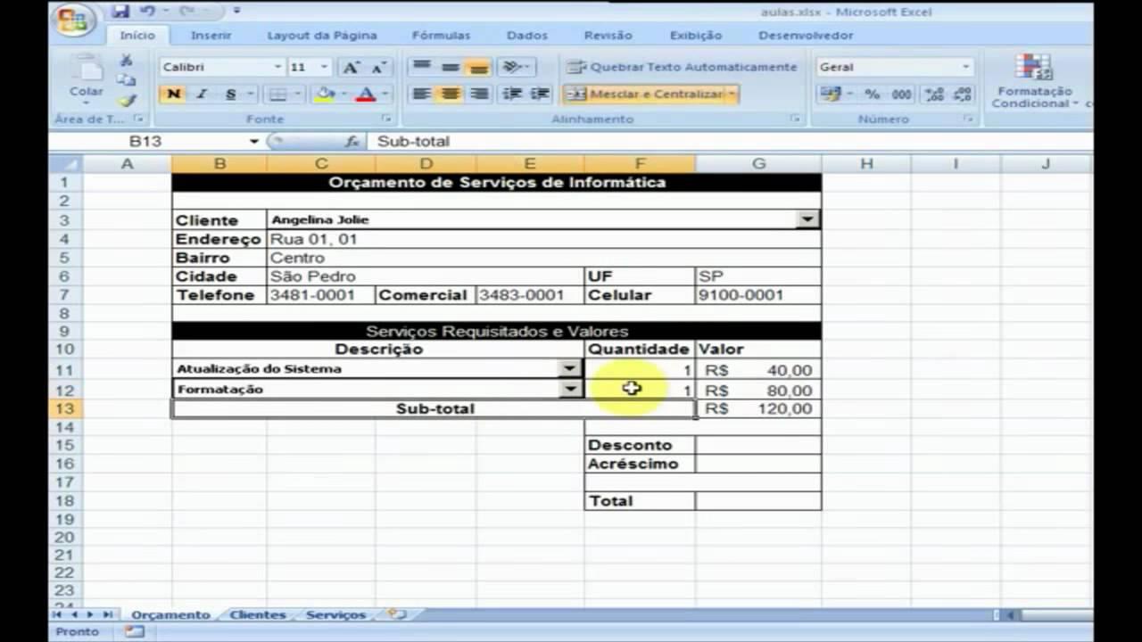 Curso De Excel Avancado Pdf
