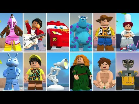 Random playable Pixar characters in LEGO The Incredibles