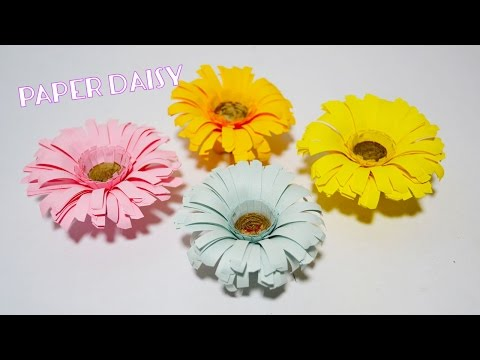 How To Make Flower Paper Daisy | Paper Flower Crafts