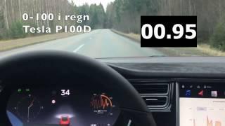 Tesla Model S P100D 0 till 100