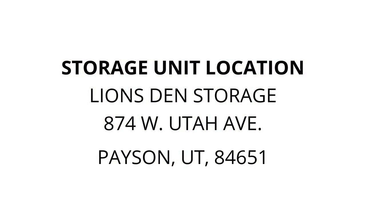 Lions Den Storage   Unit 341