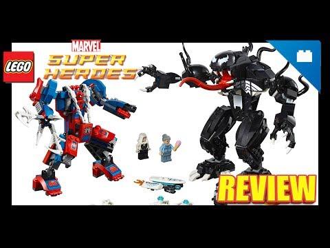 Review LEGO Marvel Super Heroes: Spider-Man Mech vs Venom Mech 2018