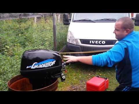 лодочный мотор гладиатор 9.9 цена видео